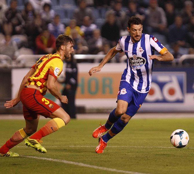Toché, en una jugada del partido del sábado pasado contra el Barcelona B quintana