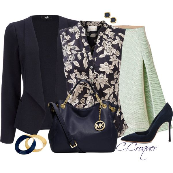 Classy Navy&White, created by ccroquer on Polyvore