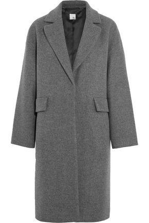 Edie brushed wool-blend coat
