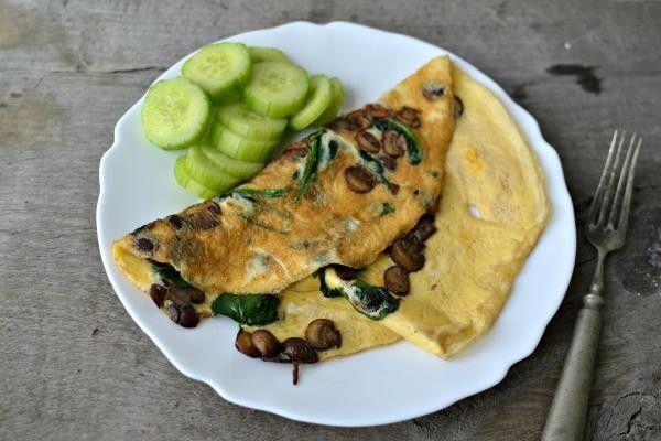 Omeleta se žampiony a špenátem | Recepty | KetoDiet CZ