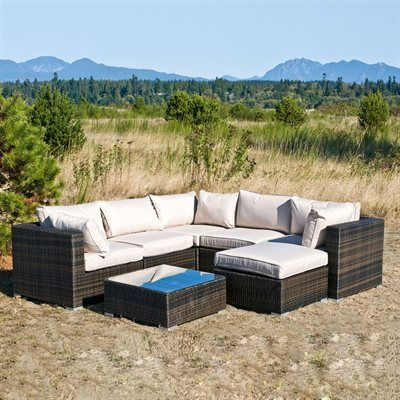Best Kontiki 10080950 Monte Carlo 7 Piece Outdoor Sectional 400 x 300