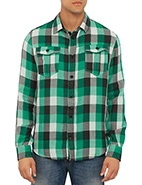 Armani Reg Fit Flannel Shirt #davidjones #bluesandgreens #newarrivals #autumnwinter2013