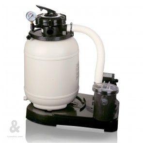 Equipo filtración monobloc  con filtro de arena y bomba Grec.  El conjunto de filtración ( filtro + bomba) es una solución fácil y rápida para la limpieza del agua de su piscina. Se compone de un filtro de arena con válvula selectora incorporada y una bomba. Seleccionar el diámetro del filtro en el desplegable.