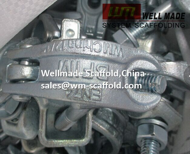 Welmade Scaffold,China: Drop Forged Scaffold Swivel Coupler En74 for OD48.3mm Scaffold Tube BS1139 Standard
