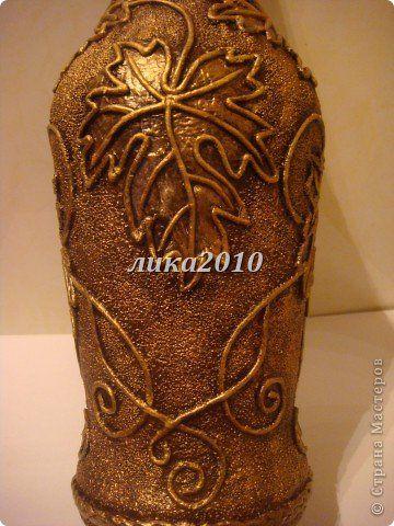 Декор предметов Аппликация из скрученных жгутиков Бутылка  Гроздь винограда Салфетки фото 5