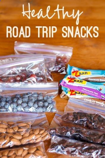 Healthy Road Trip Snacks -- pack these 9 budget-friendly, simple, and healthy road trip snacks for your next family vacation!