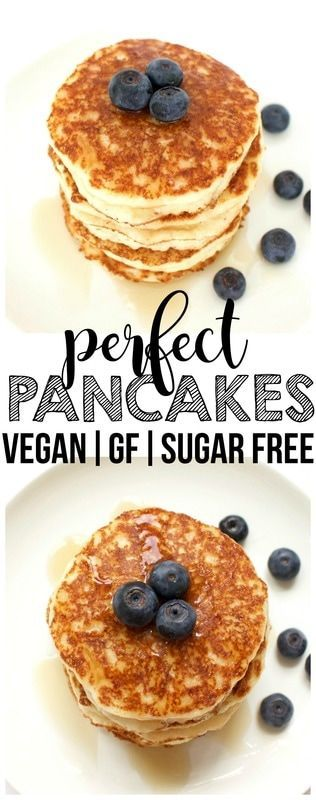 Perfect Pancakes! (Vegan, Gluten Free, Sugar Free)