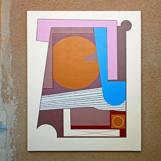 "Décimo Planeta 100 cm x 81 cm  Pintura acrílica y spray sobre lienzo de algodón  Acabado en barniz satinado  2017 ""Triple Plano"" GKo Gallery @gkogallery c/ Nagusia, 24 Tolosa  Del 30/09 al 04/11 de 2017  www.gko-gallery.com  #spogo #gkogallery #exposicion #arte #pintura #lienzo #acrilico #spray #geometria #abstraccion #geometricoabstrato #textura #circulo #linea #plano #triple"