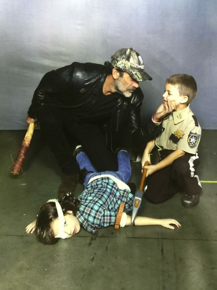 Negan with little Rick and little Carl