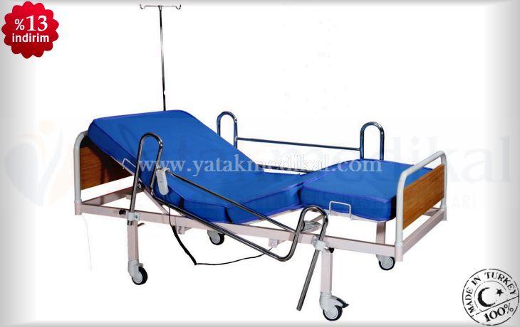 Nikelaj Korkuluklu Elektrikli Hasta Karyolası