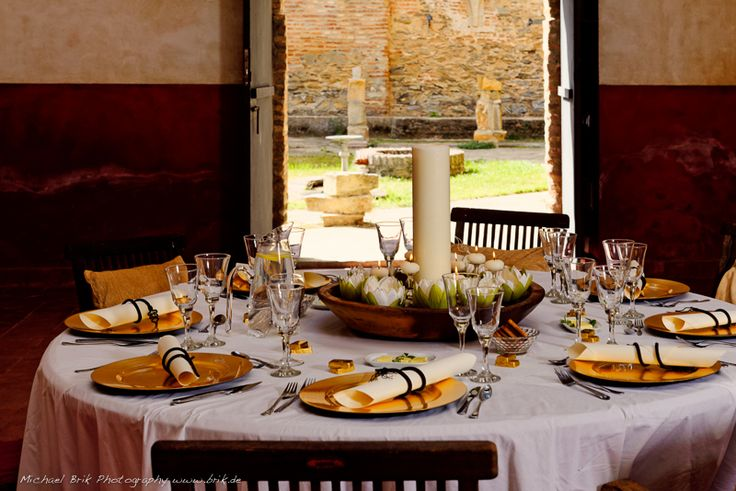 Romantic setting for a banquet or rustic meal facing the cloister more info: monasterio@lacartujadecazalla.com lacartujadecazalla.com (web)