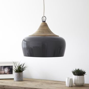 Casablanca Pendant Light Storm Grey
