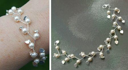 Armband maken met kralen, kettelen in takjespatroon