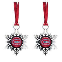 Montreal Canadiens 2-Pack Snowflake Ornament