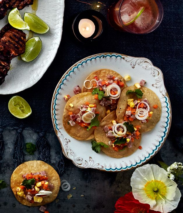 Neil Perry's tuna ceviche with ginger, chilli and corn :: Gourmet Traveller