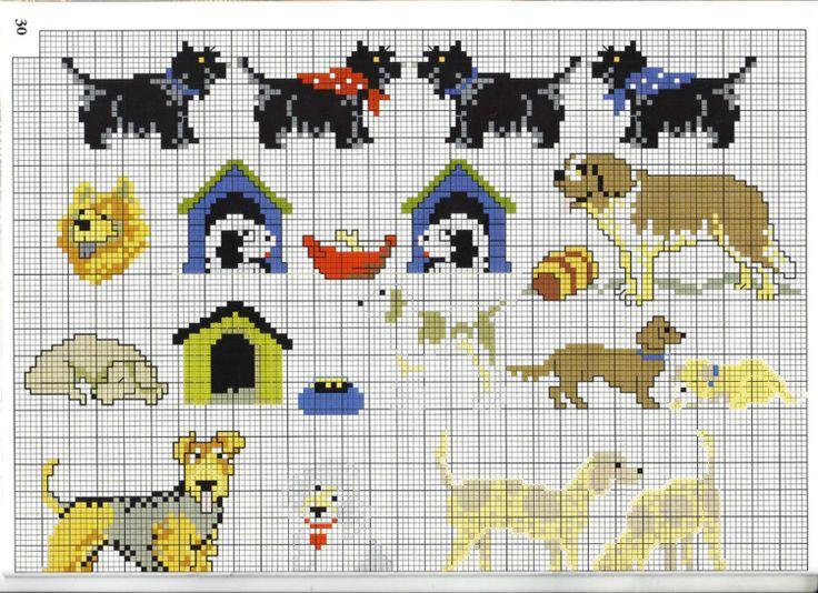 50 best images about Chien-dog-point de croix-cross stitch on Pinterest
