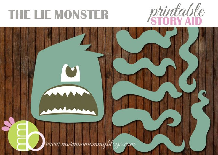 Family Home Evening: Free Lie Monster Printable and Story