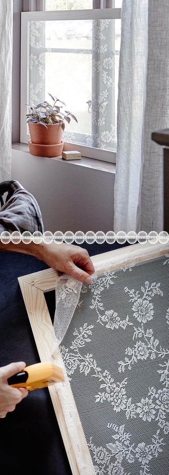Wonderful Lace Window Sheers stretched and mounted on removable frames for privacy shades – curtains frosted window lace bathroom window ideas for renters or homeowners