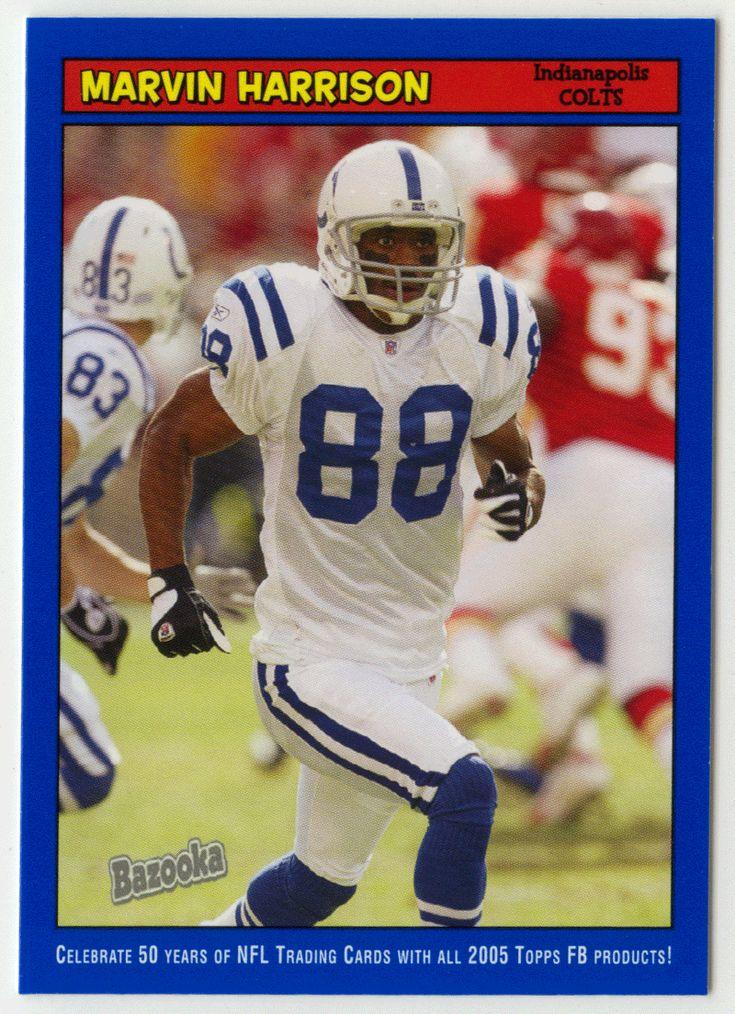 Marvin Harrison # 133 - 2005 Topps Baz Football - Blue