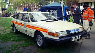 Rover SD1 British police traffic car
