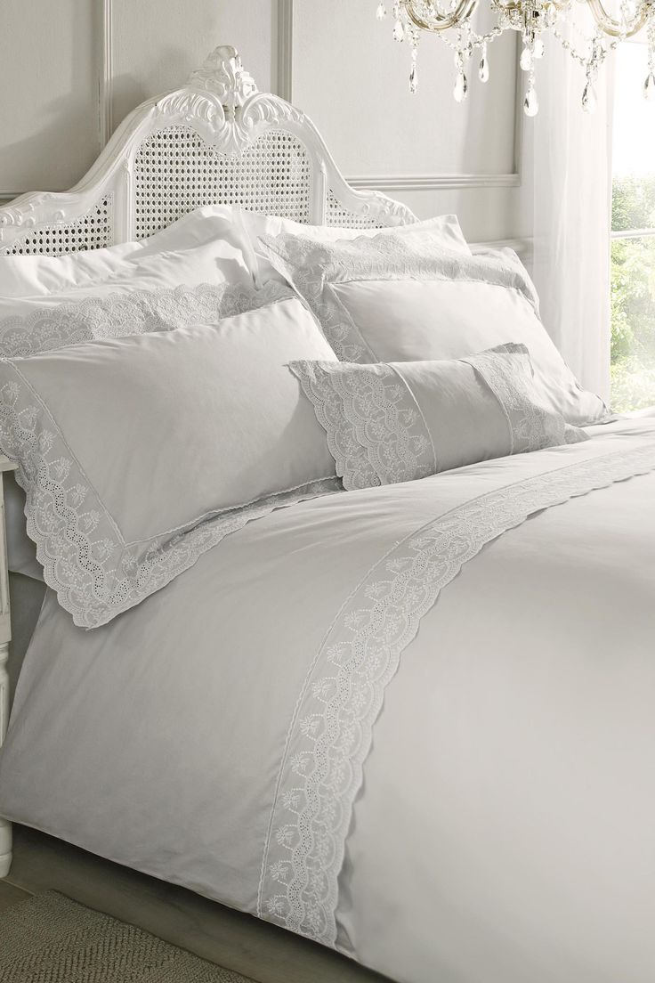 Holly Willoughby Aimee Duvet Cover | Silver | Kingsize | BHS