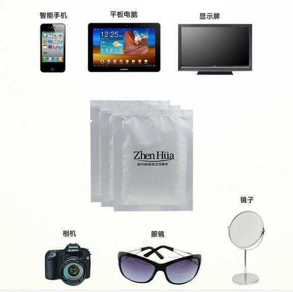 Microfibre Désinfectant lingettes Humide Lingettes chiffon De Nettoyage lunettes LCD écran chiffon de nettoyage Z666