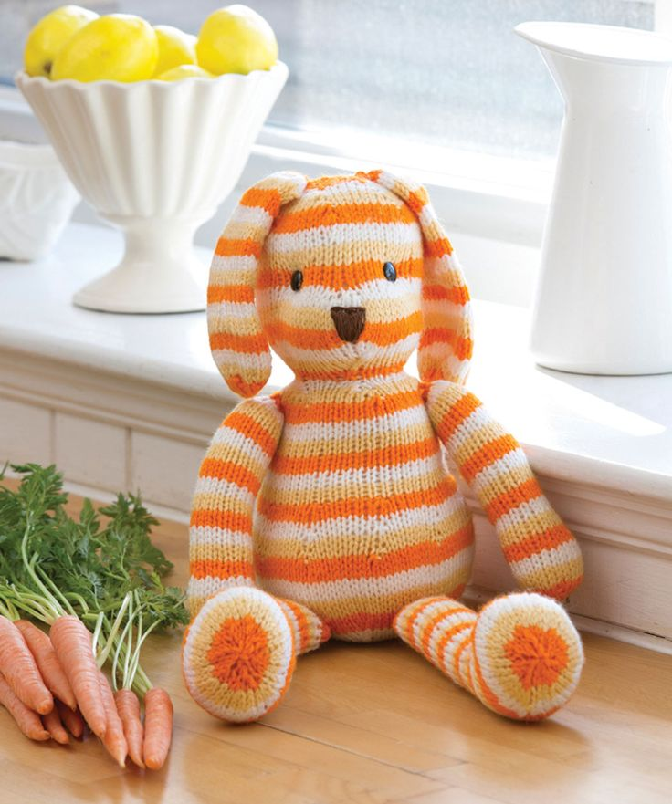 Striped Sunshine Bunny - free pattern! :)
