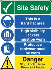 Site Safety Danger sign