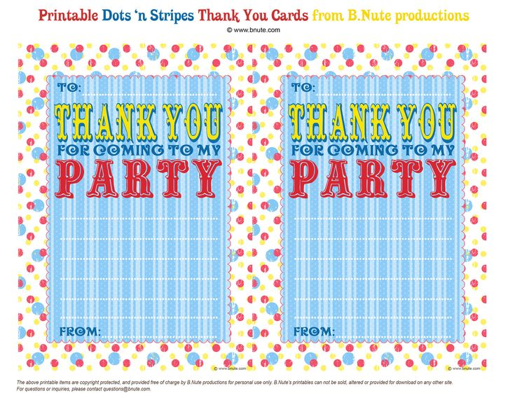 thank you for coming to my party