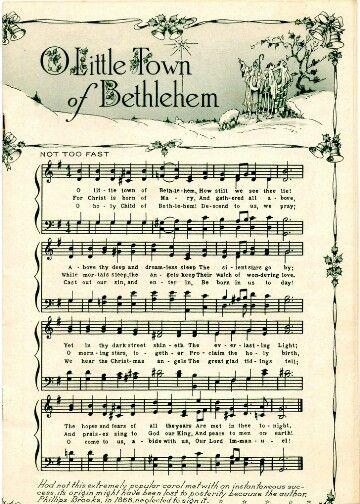 Beautiful Little Town of Bethlehem sheet music.