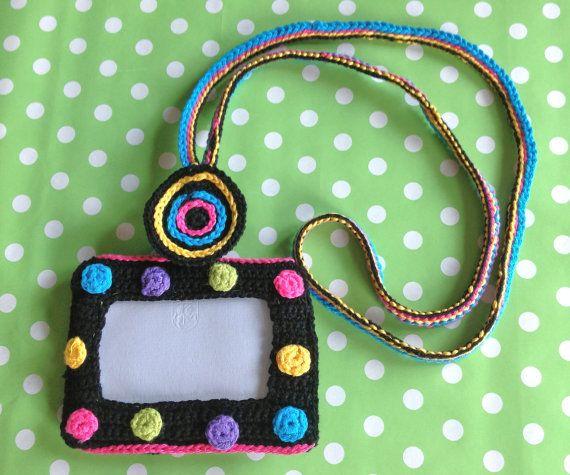 ID Badge Holder with matching lanyard colorful by LittleYeya