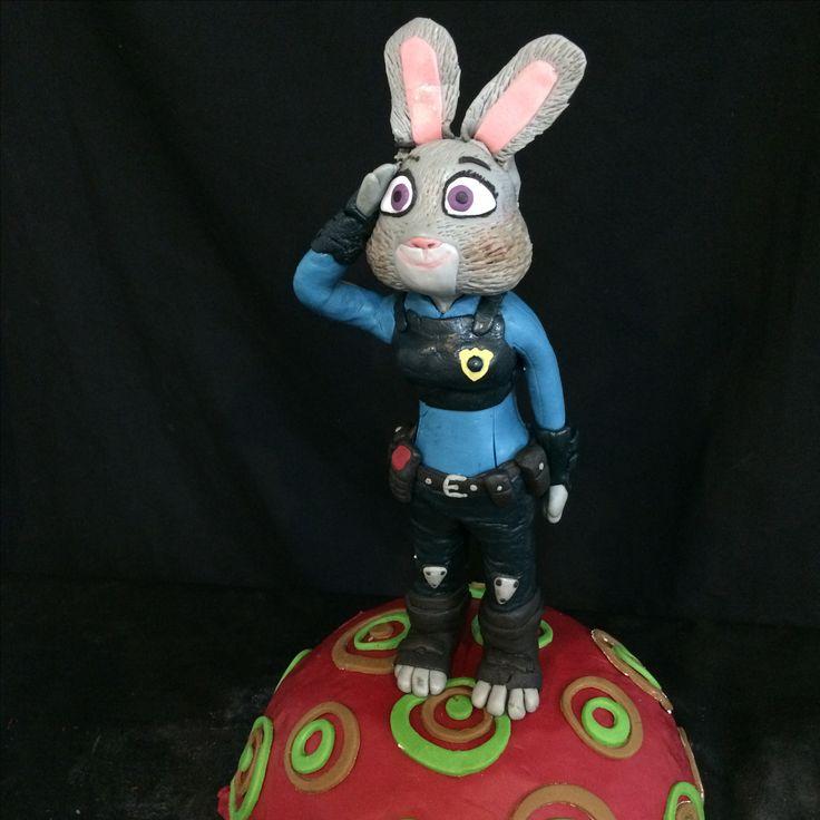 Judy hopps zootopia cake fondant
