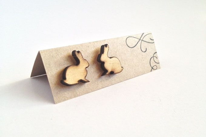 Bunny stud earrings by Kosbaar