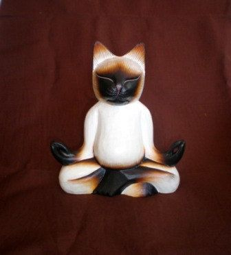 CAT YOGA wood carved. by ExtravaganzaBali on Etsy. High  20 cm (7,9 inches)