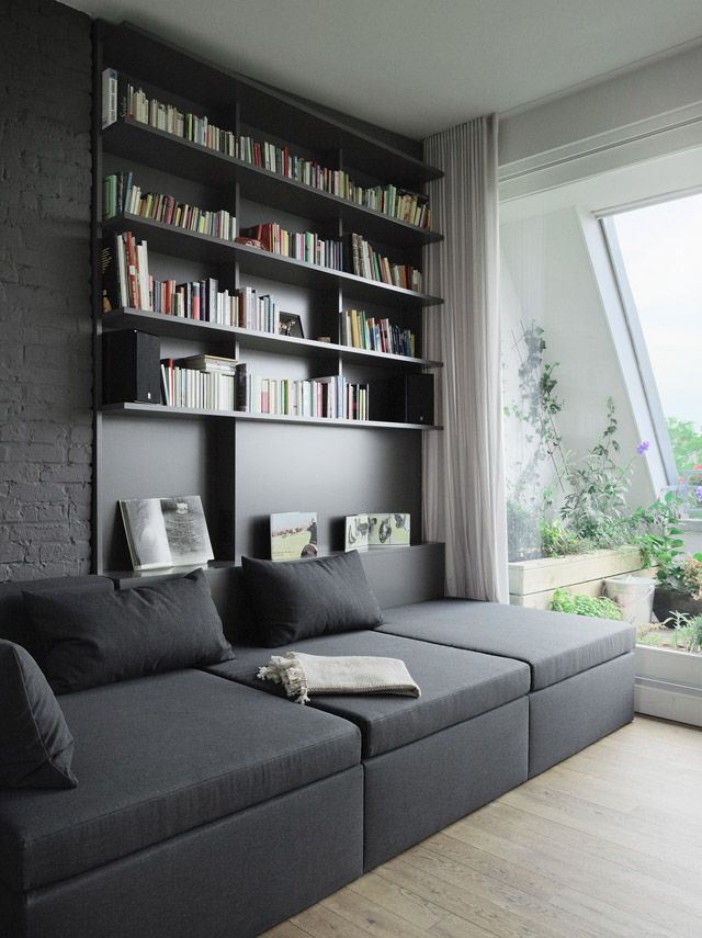 17 best ideas about bookcase behind sofa on pinterest living room mid century living room and. Black Bedroom Furniture Sets. Home Design Ideas
