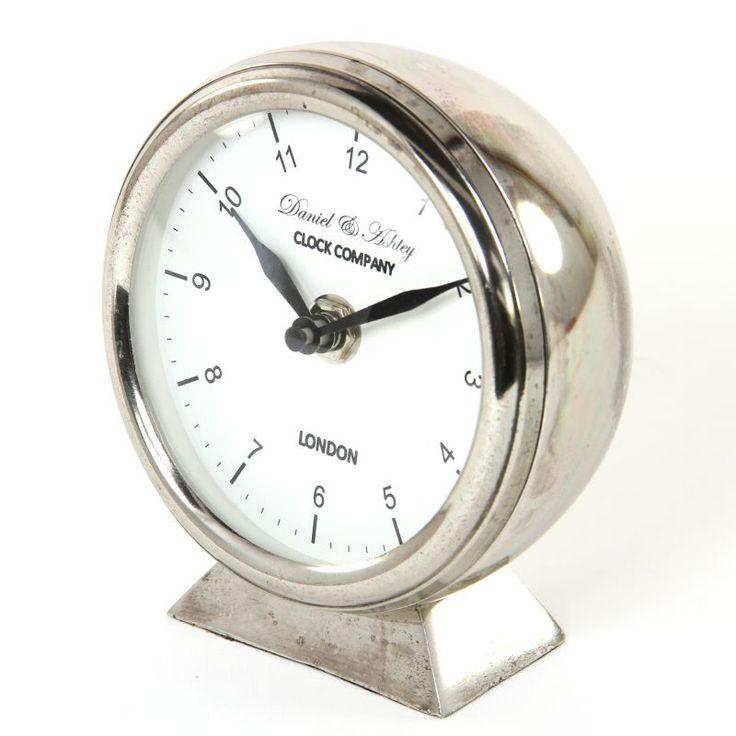 Nickel Table Mantel Clock
