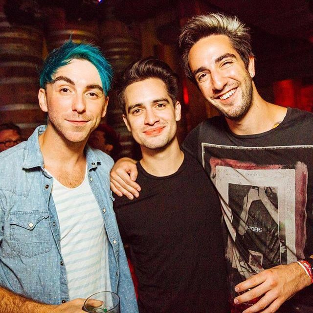 Alex Gaskarth, Brendon Urie and Jack Barakat