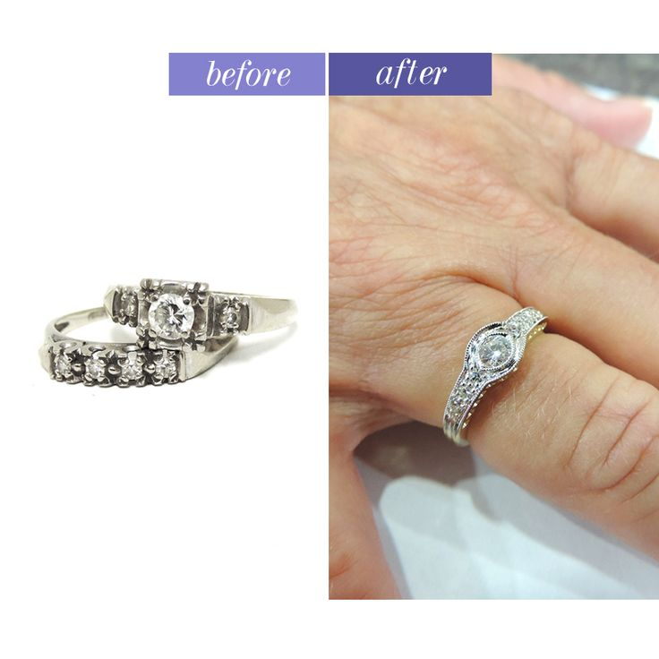 Awesome We were able to design an everyday right hand ring for this woman from her past