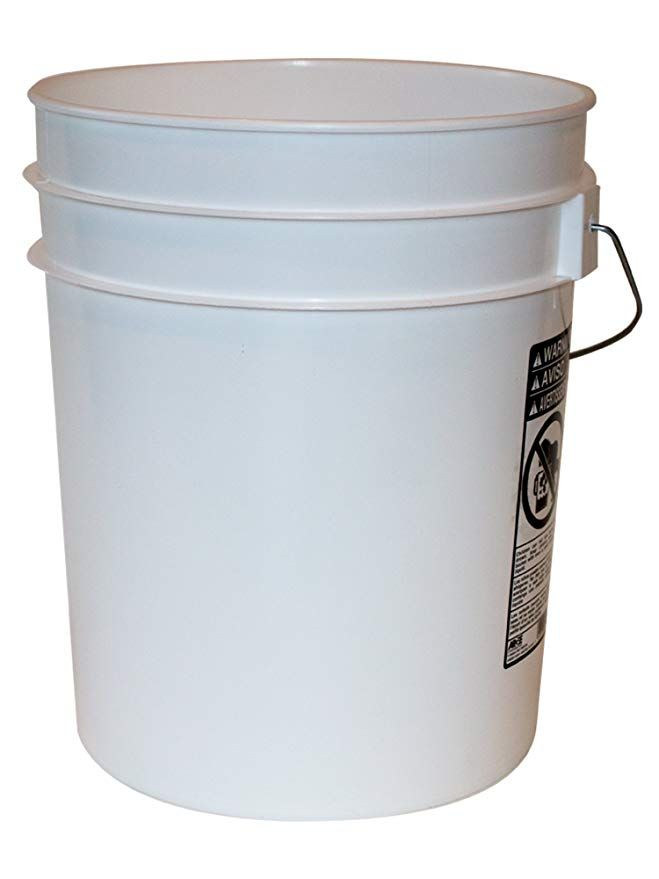 Amazon Com 5 Gallon Heavy Duty White Plastic Bucket 10 Pack Argee Rg5700 10 Prime Video Plastic Buckets Food Grade Buckets Bucket