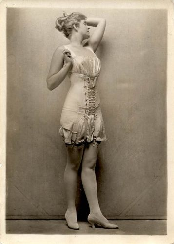 Lingerie in the 1920s.  Next time you complain about Spanx...just keep this in mind!