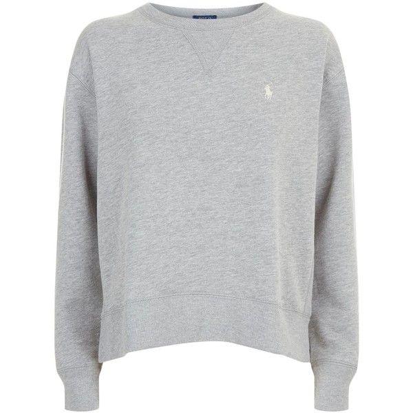 Polo Ralph Lauren Fleece Sweatshirt (430 PEN) ❤ liked on Polyvore featuring tops, hoodies, sweatshirts, fleece tops, polo ralph lauren, polo ralph lauren sweatshirt, polo sweatshirt and polo tops