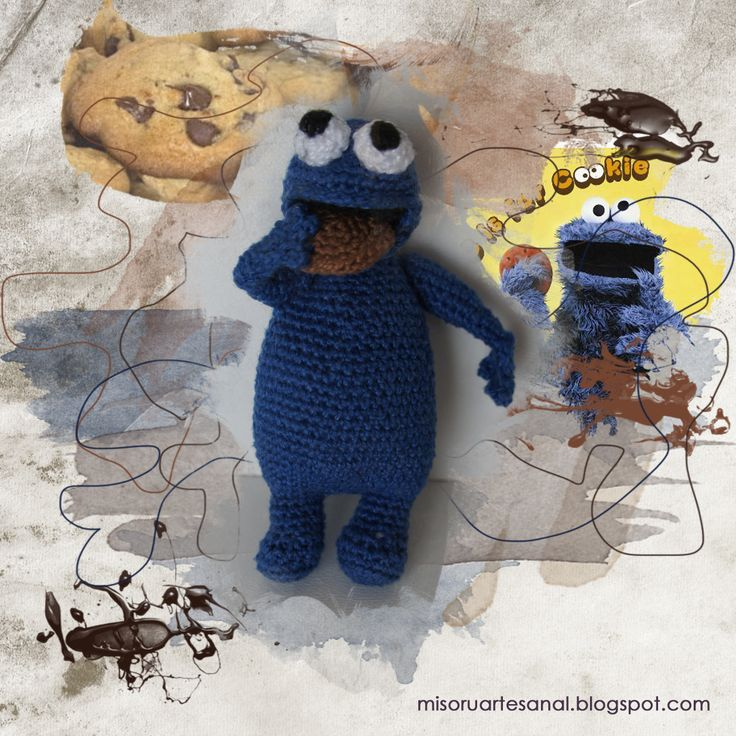 Amigurumi Cookie Monster Pattern : FREE Cookie Monster (Sesame Street) Amigurumi Crochet ...