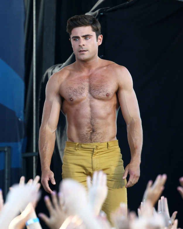 More Pictures Of Zac Efron Half Naked And Doing Insane -4418