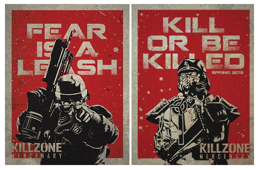 These promotional posters were made for the Killzone video game series by Dominick Garcia (Full Sail Digital Arts and Design, 2013 graduate). Although these were made as a student project, one of the designs was featured on the official Killzone Twitter feed.