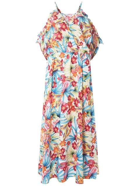 21e6a572d9 DP Beach Ivory Floral Tropical Print Maxi Dress | Clarice | Dresses ...