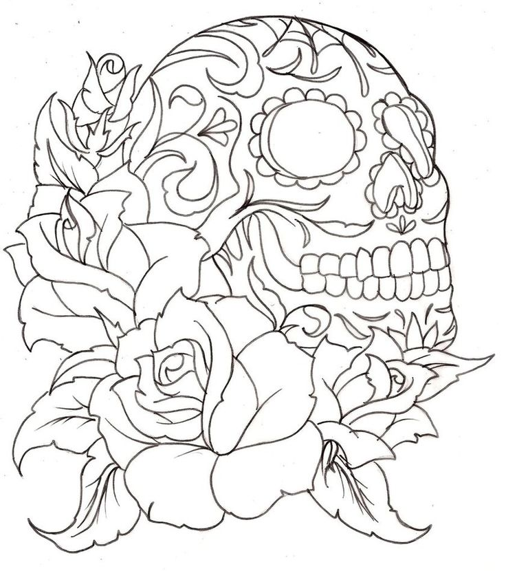 36 Best Images About Sugar Candy Skull Templates On Pinterest Coloring Design And
