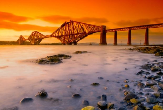 The Forth Rail Bridge as seen from South Queensferry. Picture: Wiki Commons