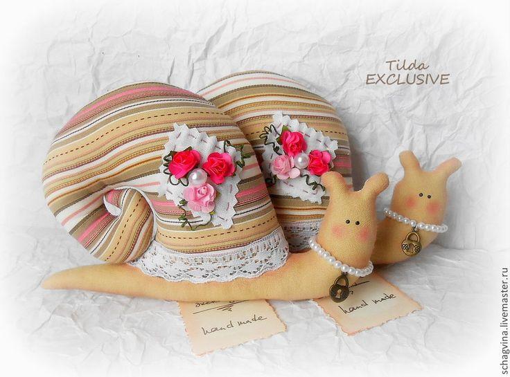 Улитка с цветами - улитка,улитка Тильда,подарок,кукла Тильда,8 марта,уютная кухня