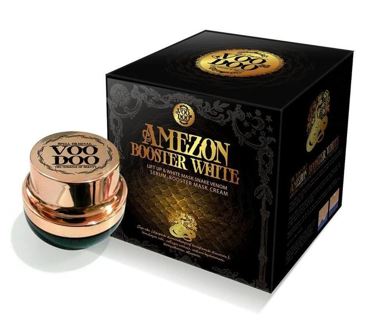 [Visit to Buy] 30.5 g. Voodoo Amezon Booster White Mask Snake Venom Serum Cream Thailand #Advertisement