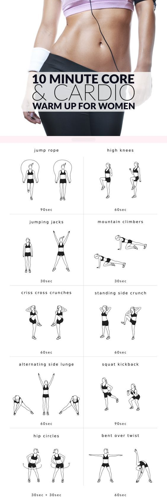 10 Min Core and Cardio  Workout | Posted By: CustomWeightLossProgram.com